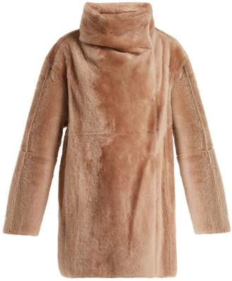 Yves Salomon High-collar shearling coat