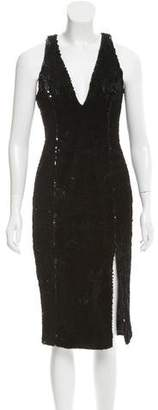 Jay Godfrey Velvet Sequin Midi Dress