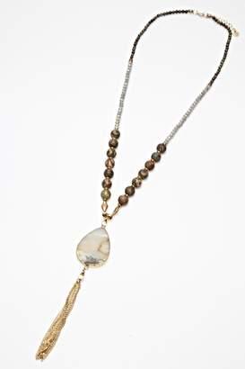 Nakamol Chicago Stoned Tassle Necklace