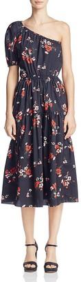 Rebecca Taylor Marguerite Floral One-Shoulder Dress $495 thestylecure.com