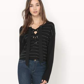 Suncoo Pablo Striped Eyelet Sweater