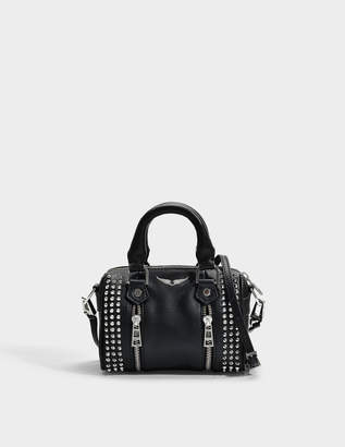 Zadig & Voltaire Sunny Spike Nano Bag in Black Cow Leather