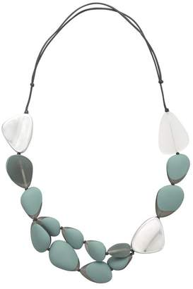 Oliver Bonas Cordelia Mixed Tone & Metallic Pebble Necklace