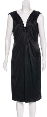 Magaschoni Satin Embellished Dress