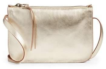Madewell Leather Crossbody Bag - Metallic