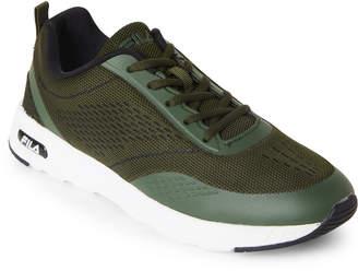 Fila Green & White Memory Chelsea Knit Sneakers