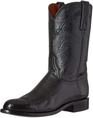 Lucchese Bootmaker Men's Lawrence-Blk Lonestar Calf Roper Riding Boot