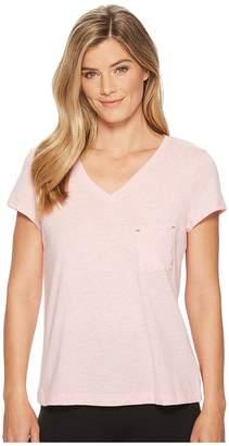 Nautica Solid Short Sleeve Tee Women's T Shirt