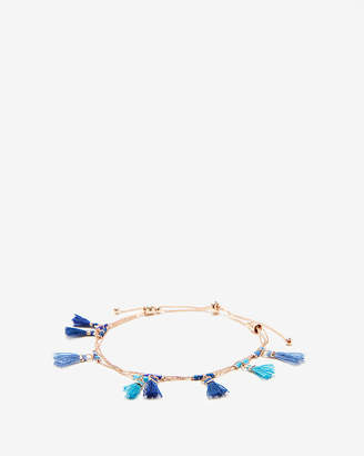 Express Blue Mini Tassel Pull-Cord Bracelet