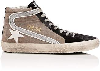 Golden Goose Men's Slide Canvas & Suede Sneakers