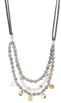 Melrose and Market Adjustable 3 Strand Leather Necklace