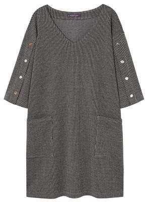 Violeta BY MANGO Buttoned check dress