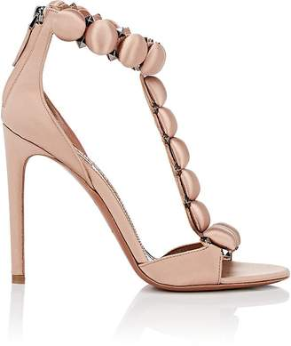 Alaia Women's Satin T-Strap Sandals