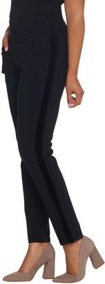 Belle By Kim Gravel Belle by Kim Gravel Velvet Trim Ponte Slim Pants