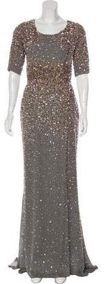 Elie Saab Embellished Silk Gown