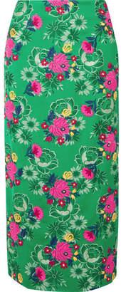 Marni Floral-jacquard Midi Skirt - Green