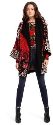 Alice + Olivia Hester Boxy Sweater Coat