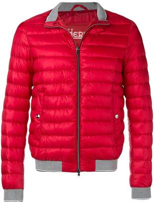 Herno quilted high neck jacket