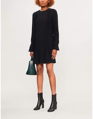 Victoria Beckham Victoria Pleated-detail crepe mini dress