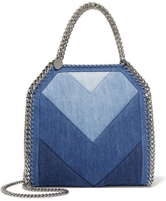 Stella McCartney - Falabella Paneled Denim Shoulder Bag - Mid denim $1,085 thestylecure.com