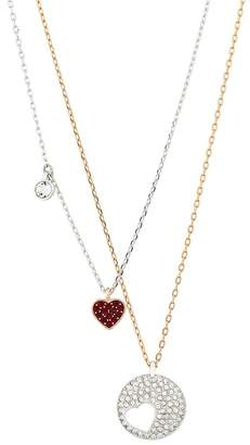 Swarovski Cry Wishes Crystal Heart Pendant Necklace Set