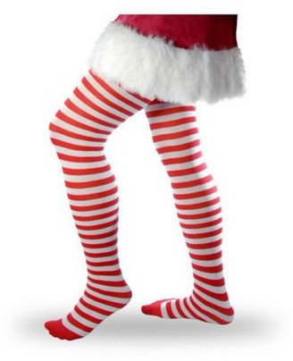 Forum Red And White Striped Adult Tights