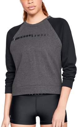Under Armour Women's Rival Fleece Raglan Sweatshirt