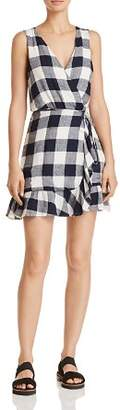 Rails Madison Gingham Wrap Dress