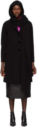 Marc Jacobs (マーク ジェイコブス) - Marc Jacobs ブラック フード スカーフ コート