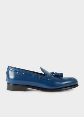 Paul Smith Men's Blue Leather 'Simmons' Tasseled Loafers