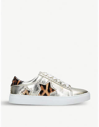 Kurt Geiger Lucie metallic trainers