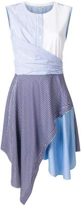 Opening Ceremony asymmetric stripe draped dress