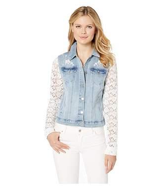 FDJ French Dressing Jeans Statement Denim Lace Sleeve Jacket
