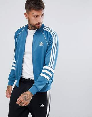 adidas Authentic Superstar Track Jacket In Blue Dj2857
