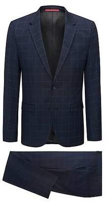 HUGO BOSS Extra-slim-fit windowpane-check suit in virgin wool
