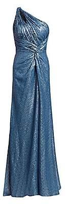 Rene Ruiz Rene Ruiz Women's One-Shoulder Sequin Mesh Gown