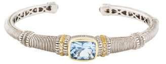 Judith Ripka Synthetic Quartz & Diamond Roma Cuff