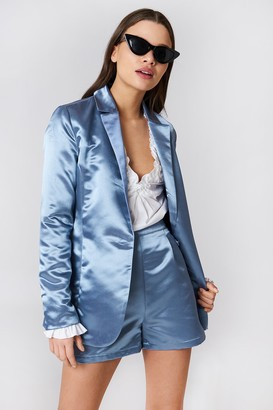 Na Kd Party Shiny Satin Blazer Blue Stone
