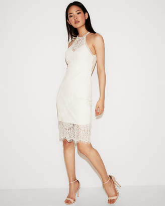 Express All-Over Lace Sheath Dress