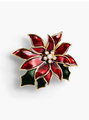 Talbots Holiday Brooch Collection - Poinsettia