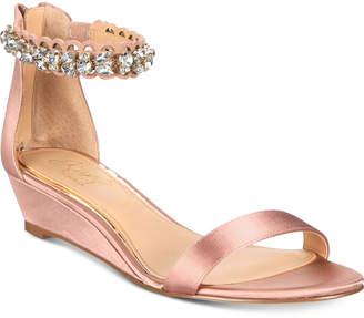 Badgley Mischka Ginger Evening Wedge Sandals Women's Shoes