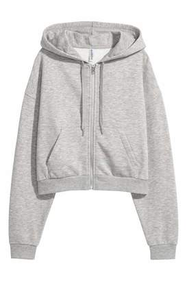 H&M Short Hooded Jacket - Light gray melange - Women