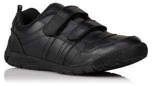 George Boys Black Wide Fit 2-Strap School Shoes