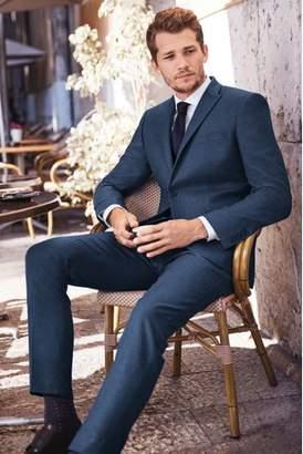 Next Mens Flannel Suit: Waistcoat Blue 32 R