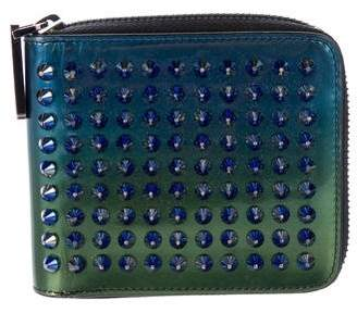 Christian Louboutin Spiked Zip-Around Wallet