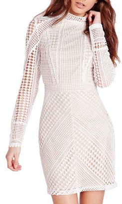 Women's Missguided Geometric Lace Body-Con Dress $123 thestylecure.com