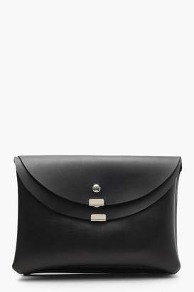 boohoo Double Foldover Flap Envelope Clutch
