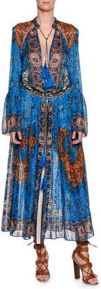 Etro Saffron Printed Caftan Dress, Blue $5,185 thestylecure.com