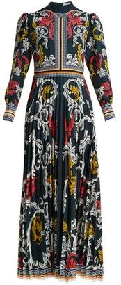 Mary Katrantzou Mizar Pleated Crepe Gown - Womens - Multi