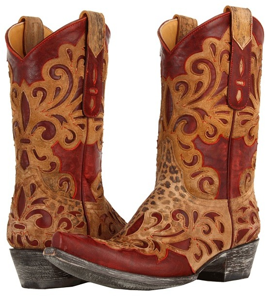Old Gringo Linda Lou (Ochre/Red) - Footwear